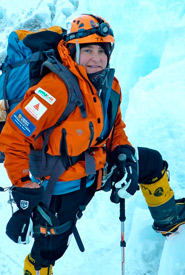 TA climbing Khumbu Ice fall (Photo by TA Loeffler)