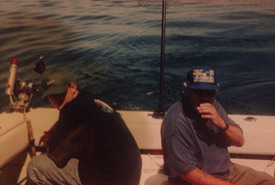 Me fishing with my grandfather in the early 1990s. (Photo by Jarret Ruminski)