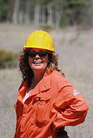 Val Deziel, coordinator of conservation biology. (Photo by NCC)