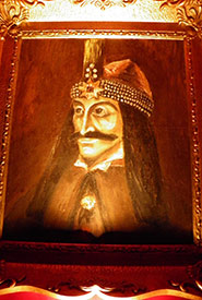 Painting of  Vlad Dracul inside the house. (Photo by Katie Bell)