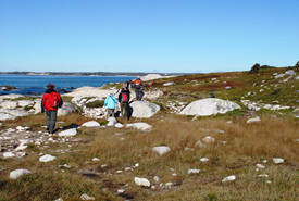 Walking on the Barrens in NS (Photo by NCC)