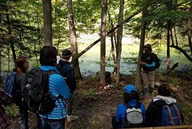 A lesson on vernal pools by Jenna Siu (Photo by Daniel Abdelmassih)