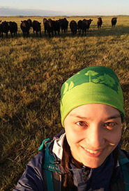 Alayna out in the field at Old Man on His Back Prairie and Heritage Conservation Area, SK (Photo by NCC)