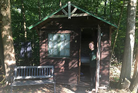 Current assistant conservation biologist Ally Belanger was the first NCC staff to live on site at QUBS. (Photo by NCC)