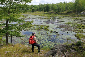 Assistant conservation biologist and former conservation intern, Ally Belanger (Photo by NCC)