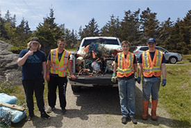 Conservation Volunteers at Boar's Head, NS (Photo by NCC)