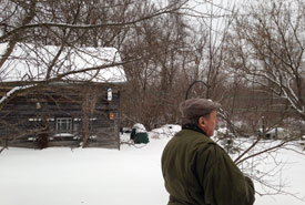 Bob Bowles, Carden Christmas Bird Count leader, expertly eyeing the trees for new species. (Photo by Kristyn Ferguson/NCC staff)