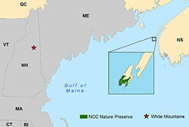 Map of the Brier Island Nature Preserve (Photo by NCC)