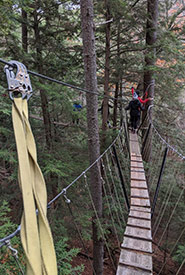 The canopy walk was a great team-building exercise for NCC staff. (Photo by NCC)