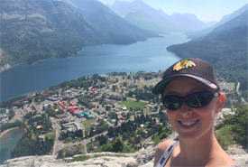 Carys Richards at Waterton Lakes National Park, AB (Photo by NCC)