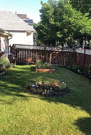 Our modest garden (Photo by Christine Beevis Trickett/NCC staff)