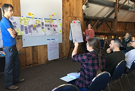 NCC's new Conservation Coaches came away from the intensive training with tangible skills in group facilitation and decision-making on how to engage communities and stakeholders in the crafting of effective conservation plans. (Photo by NCC)