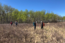 We spent the morning walking NCC's Ursulan property. (Photo by NCC)