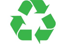 International recycling logo (Photo by Krdan, Wikimedia Commons)