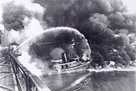 Cuyahoga River fire in June 1969 (Photo by USEPA Environmental-Protection-Agency)
