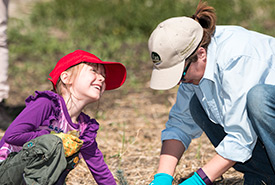 NCC's Conservation Volunteers program provides hands-on opportunities for people of all ages to contribute to nature's health. (Photo by NCC)