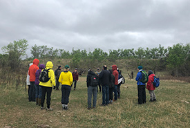Twenty-four people came out to NCC's Dundurn property in Saskatchewan to learn about citizen science and land conservation. (Photo by NCC)