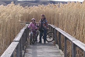 My sister and me on a bike trip with our dad. (Photo courtesy of Logan Salm/NCC intern)