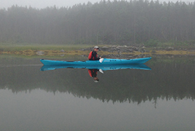 Danielle Horne kayaking (Photo by NCC)