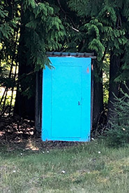 The outhouse I was temporarily trapped in (Photo by Carla Reed)
