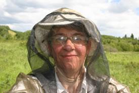 Diana selfie with mosquito jacket (Photo by Diana Bizecki Robson)