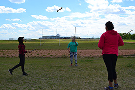 The students' favourite activity was a traditional North American Indigenous sport called double ball. (Photo by NCC)