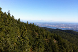 View from the top of Eagle Bluffs, BC. (Photo by Emilie Diver)