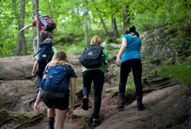 Hiking is a great way to explore nature and get moving! (Photo courtesy Scouts Canada)