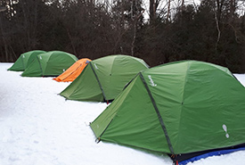 Four-season tents for winter camping (Photo by Scouts Canada)