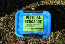 Geocache (Photo by Solitude, Wikimedia Commons)