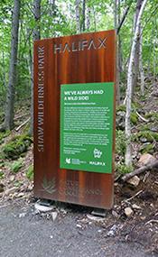 Shaw Wilderness Park sign (Photo by Katie Diespecker/NCC intern)
