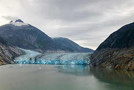 Glacial front of the Southern Sawyer Glacier (Photo by Justine Coutu)