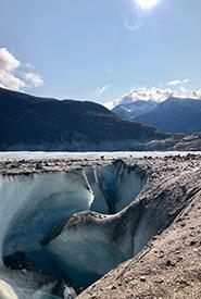A glacier mill found on Meade Glacier (Photo by Justine Coutu)