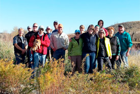 Group shot from CV event on Legacy Island, AB (Photo by Amy McClelland)