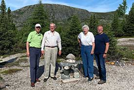 L-R: John Patten, Robert Patten, Susan Patten, Allan Patten (Photo courtesy of the Patten family)