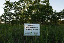 Restoration in progress sign (Photo by NCC)