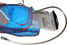 Francis chooses to carry all of his water supply on his back in a hydration bladder. (Photo by Tiia Monto/Wikimedia Commons)