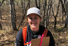 Kaitlin Baril, NCC Saskatchewan Region's 2019 natural area intern (Photo by NCC)