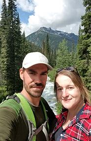 Kayla and Mike Burak enjoying a nature day (Photo by Kayla Burak/NCC staff)