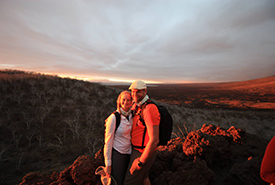 The black, desert-like, windblown volcanic landscapes of the Galapagos Islands greeted us (Photo courtesy of Jeff Verberne)