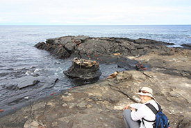 Kristyn Ferguson in the Galapagos Islands (Photo by Jeff Verberne)