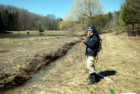 Kristyn Ferguson, spring monitoring, ON (Photo by NCC)