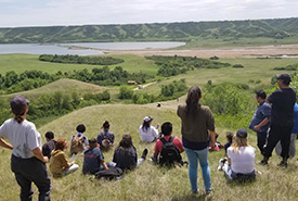 Learning the Land brings educational projects and initiatives to schools and communities on Treaty 4 lands. (Photo by NCC)