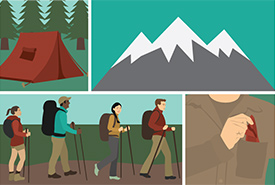 Leaving no trace during outdoor adventures (Graphic by Fix.com)