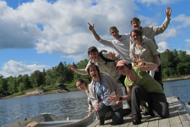 Our hardy group of explorers. (Photo by NCC)