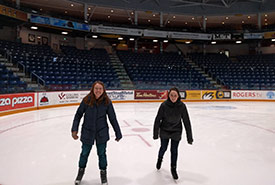 The inaugural lunch-time skate at a rink by NCC's Guelph office (Photo by NCC)