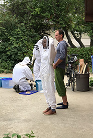 My family has kept honeybees on our out-of-town property on and off since I was a baby. (Photo courtesy of Maia Herriot/NCC staff)