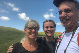 Maia Herriot and her parents (Photo by NCC)