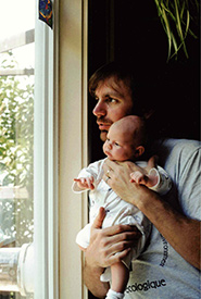 Me as a baby with my father (Photo courtesy of Maia Herriot)
