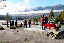 Bonfire, Winter Celebration, Marion Creek Benchlands, BC (Photo by NCC)